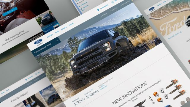 Ford website AEM redesign