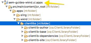 aem clientlib-site folder structure